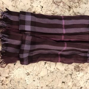 BURBERRY WOOL PLAID SCARF